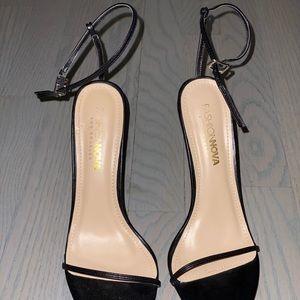 Black Strappy Ankle Stilettos